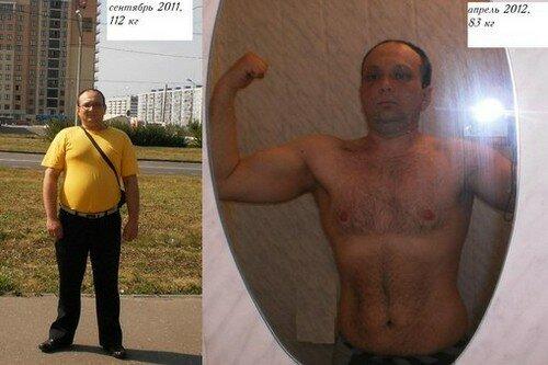 Результаты похудевших на диете 800 калорий 1